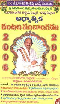 Gantala Panchangam 2015-16 Pdf Download